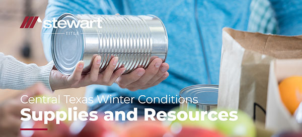 Central Texas Winter Conditions: Supplies and Resources